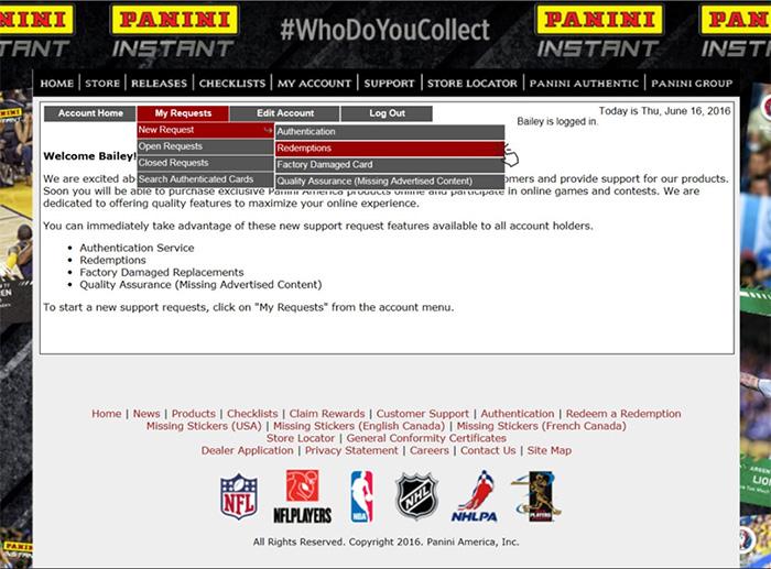 PANINI社 レデンプションカードの交換方法